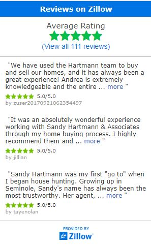 Sandy Hartmann & Associates Zillow Reviews