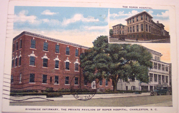 Riverside Infirmary, Roper Hospital, Charleston, historic downtown