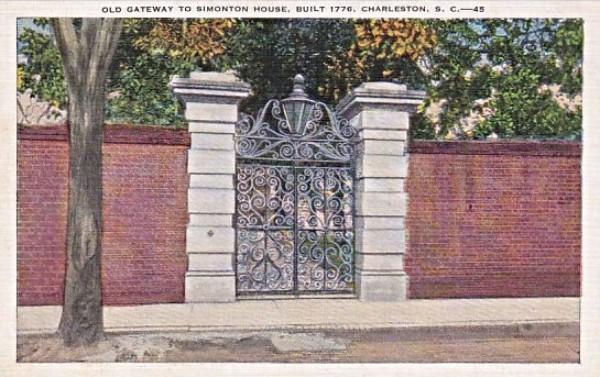Simonton House, Swordgate House, Hervey Allen, Charleston, SC, Literary Renaissance