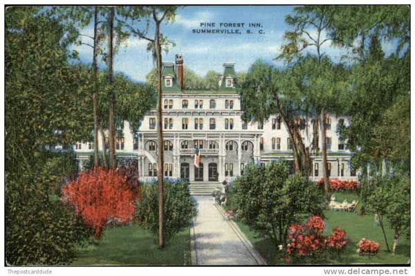 Pine Forest Inn, Charleston, South Carolina, Summerville, President, Roosevelt, Historic