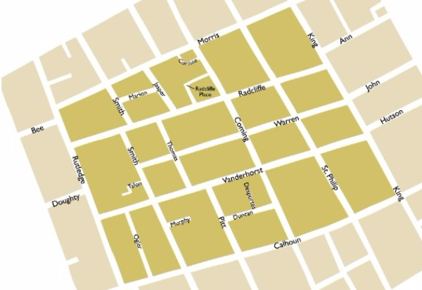 Radcliffeborough Neighborhood Map