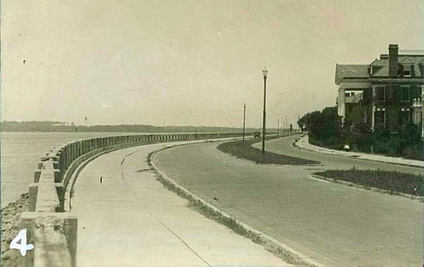 Murray Boulevard, Charleston, SC, 1927, The Battery