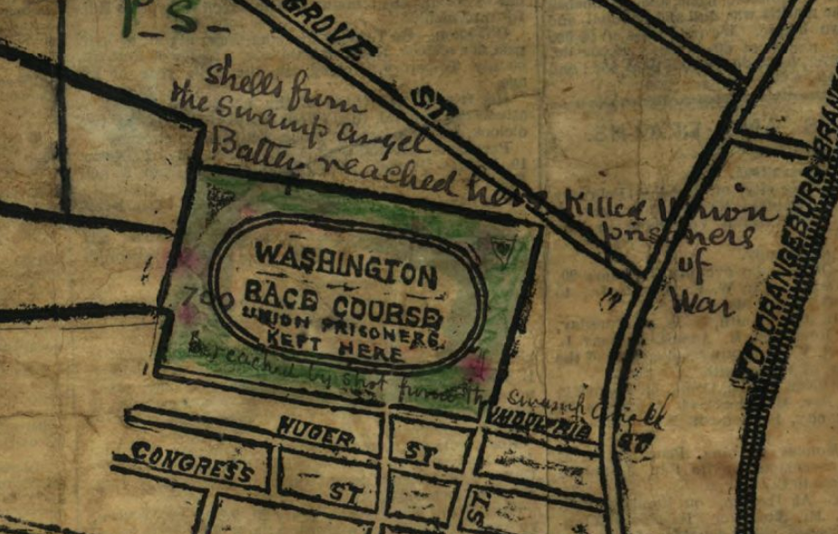 Map of Washington Race Course