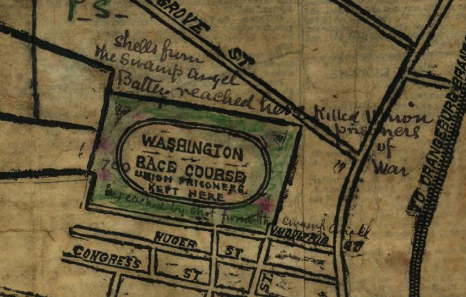 Map of Washington Race Course