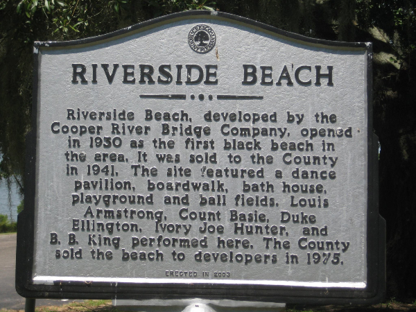 Riverside Beach, Charleston, SC, Segreation, Blacks