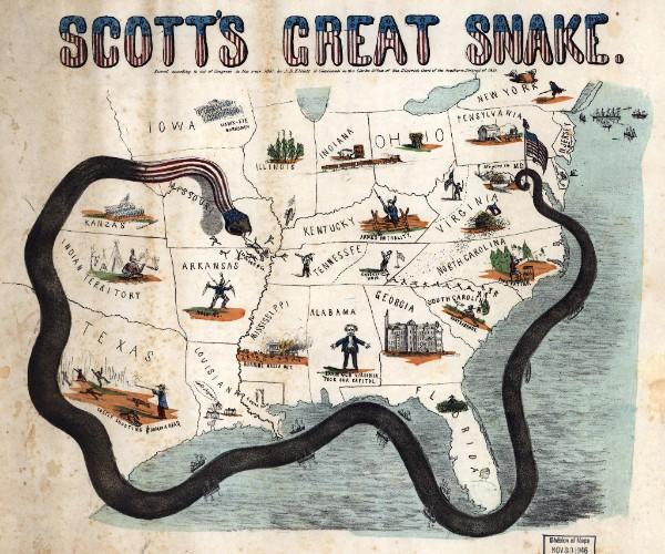 Scott's Great Snake, Anaconda Plan, Stono Fleet, Charleston Harbor, Charleston, SC, Civil War