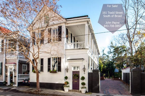 161 Tradd Street was built ca 1870 and is currently offered for sale by John Payne.