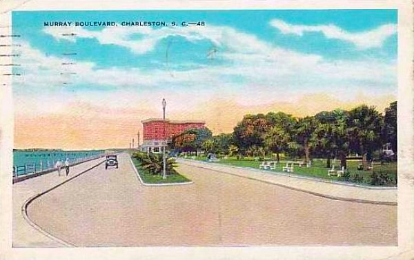 Charleston, SC, Battery, 1931, Murray Boulevard