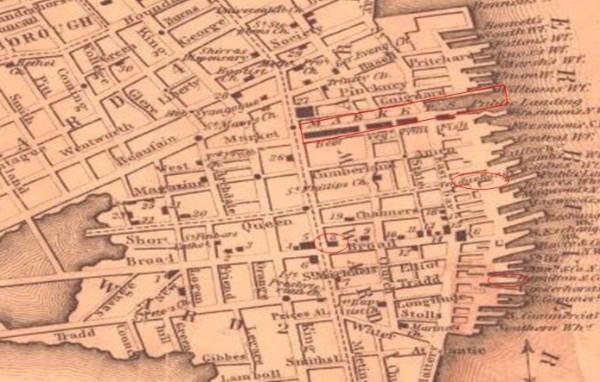 Charleston 1849, Charleston Maps, Charleston markets