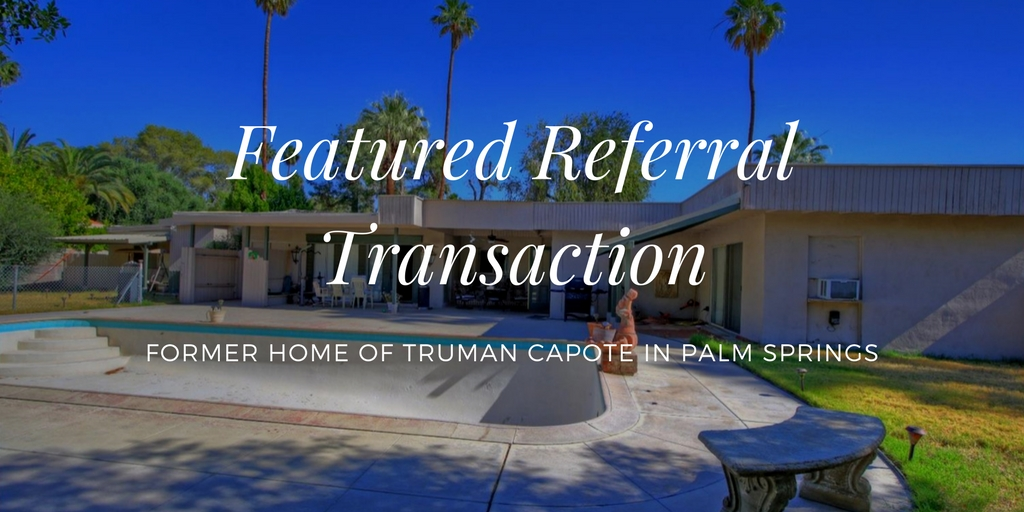Palm Springs Real Estate Referrals