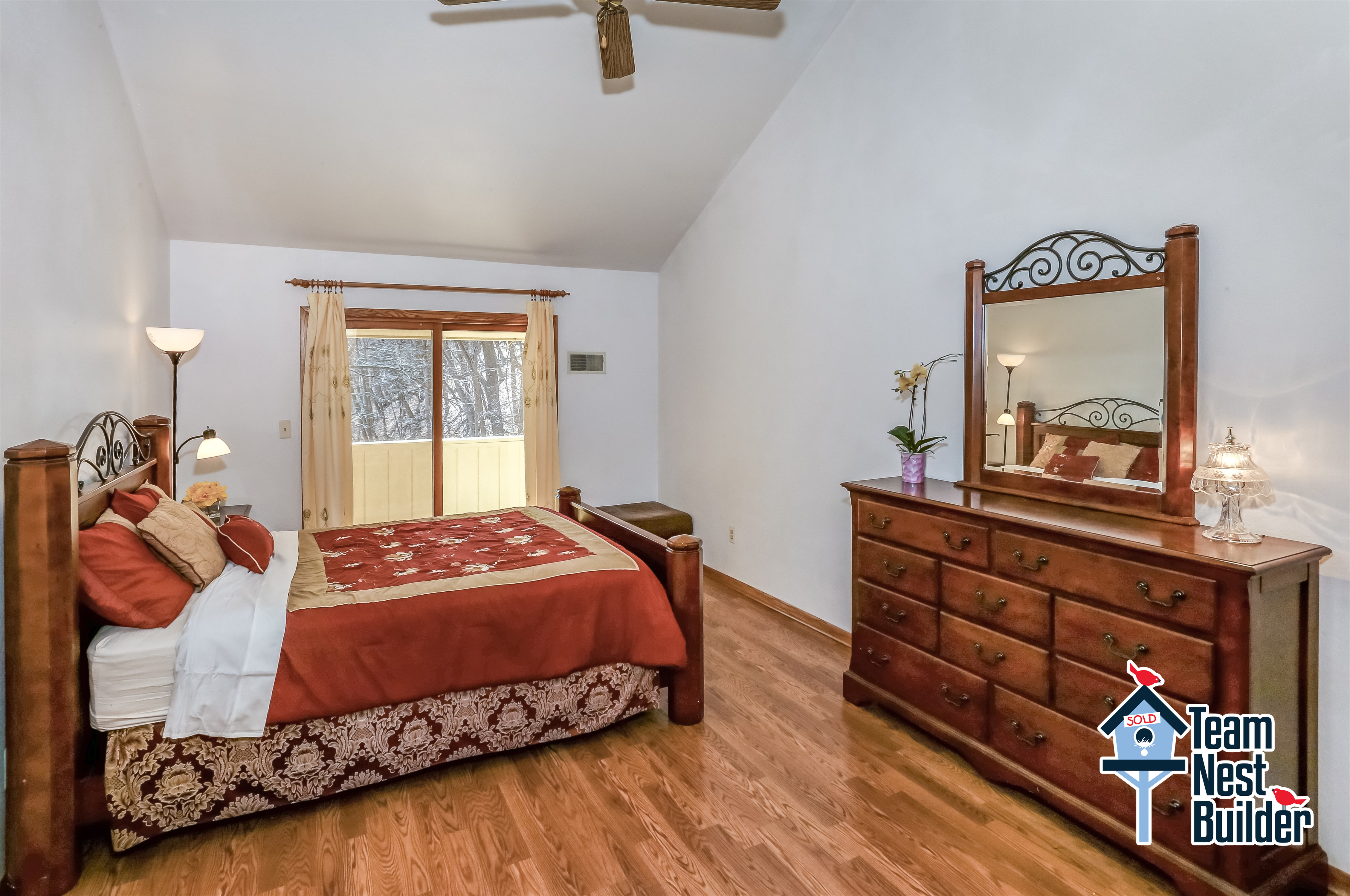 Master bedroom with private balcony, massive walk-in closet and attached office