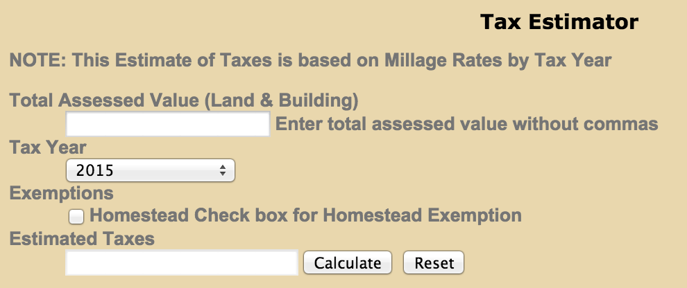 Tax Estimator