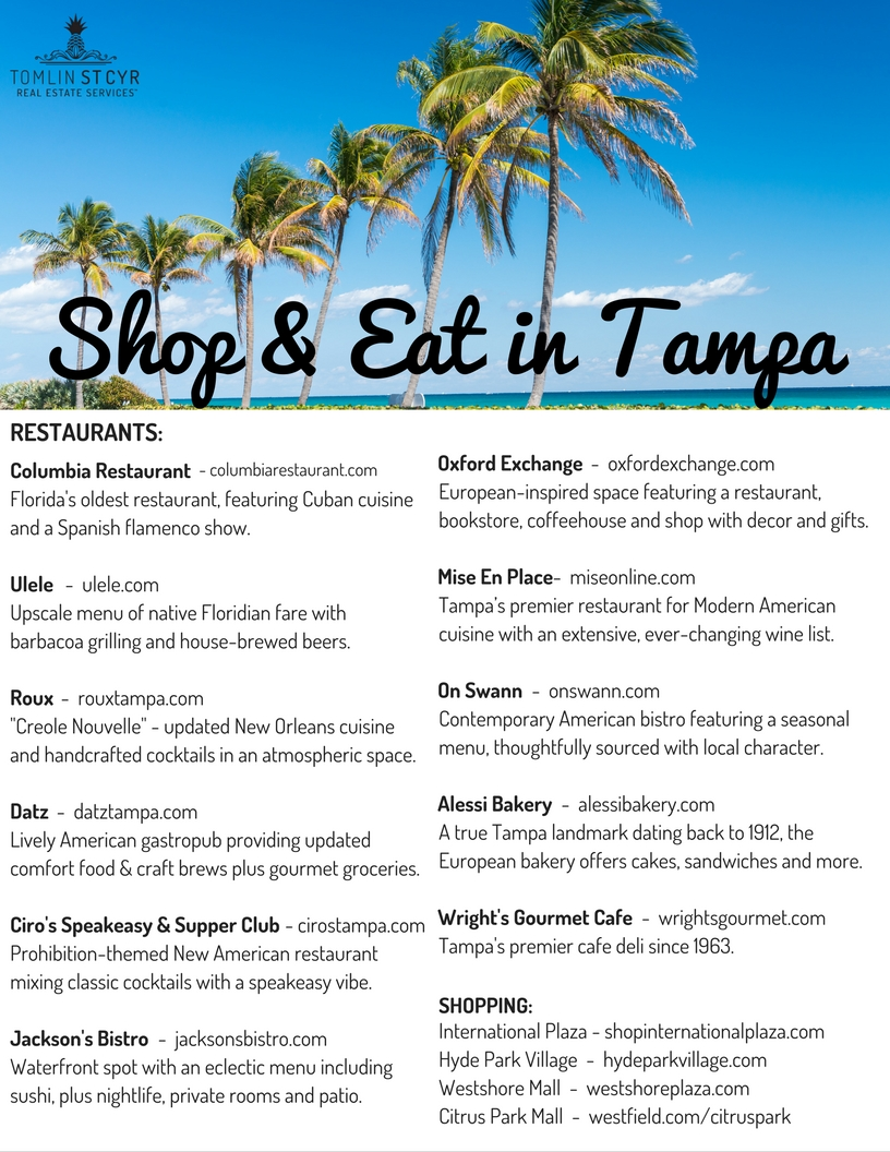 Shop and Eat in Tampa